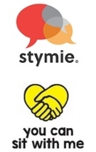 Stymie and You can sit with me logos